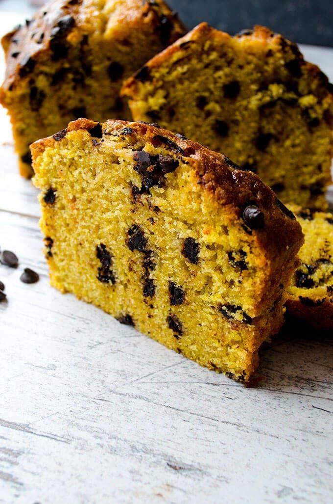Chocolate Chip Pumpkin Bread   giverecipe.com   #pumpkin #bread #cake #pumpkinbread #fallrecipes #baking
