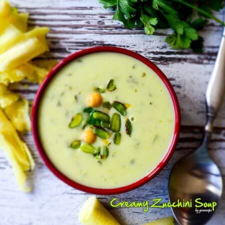 Creamy Zucchini Soup | giverecipe.com | #soup #zucchini #creamysoup #fallrecipes #vegetarian
