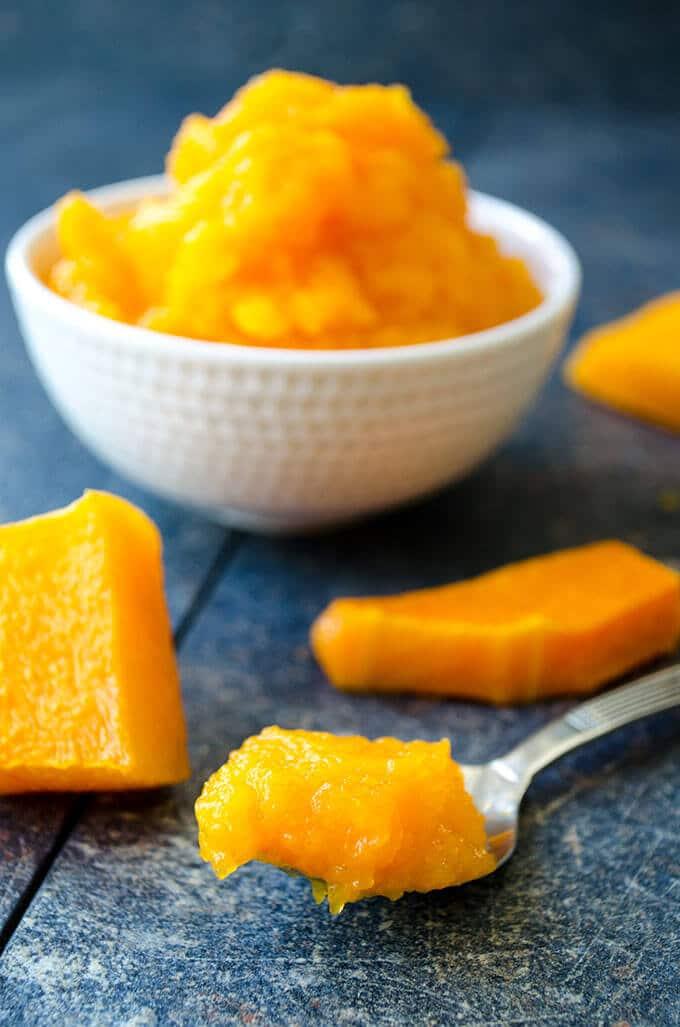 Homemade Fresh Pumpkin Puree | giverecipe.com | #pumpkin #homemade