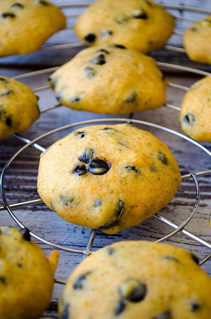 Pumpkin Chocolate Chip Cookies   giverecipe.com   #pumpkin #chocolatechips #cookies #baking #fall #fallrecipes