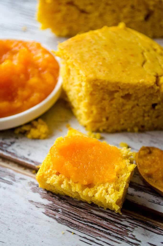 Pumpkin Cornbread | giverecipe.com | #pumpkin #cornbread #bread # ...