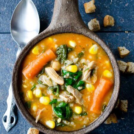Tomato Chicken Rice Soup | giverecipe.com | #chickensoup