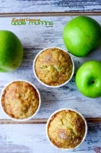 Zucchini Cinnamon Apple Muffins