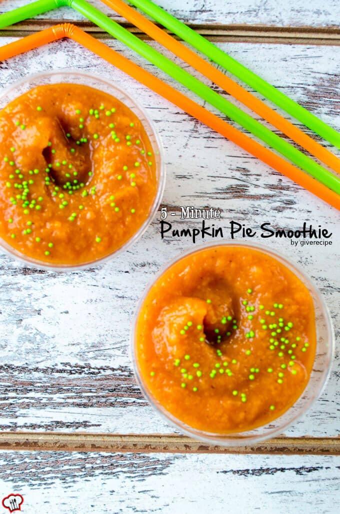 5 Minute Pumpkin Pie Smoothie