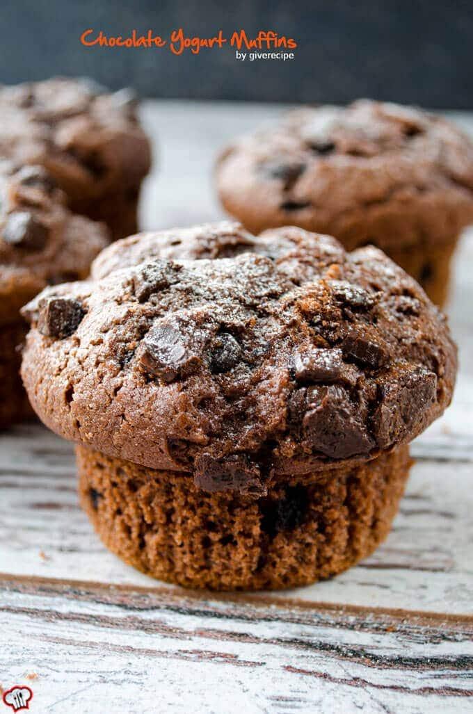 Chocolate Yogurt Muffins