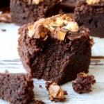 Fudgy Gluten Free Brownies | giverecipe.com | #brownies