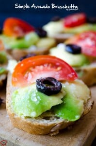 Simple Avocado Bruschetta | giverecipe.com | #avocado