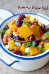 Butternut Squash Chili | giverecipe.com | #butternutsquash #chili