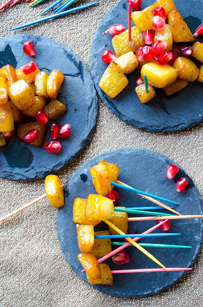 Cinnamon Sugar Butternut Squash Bites | #butternutsquash