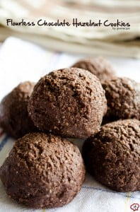 Flourless Chocolate Hazelnut Cookies | giverecipe.com | #cookies #flourless