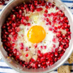 Pomegranate with Eggs | giverecipe.com | #pomegranates #eggs