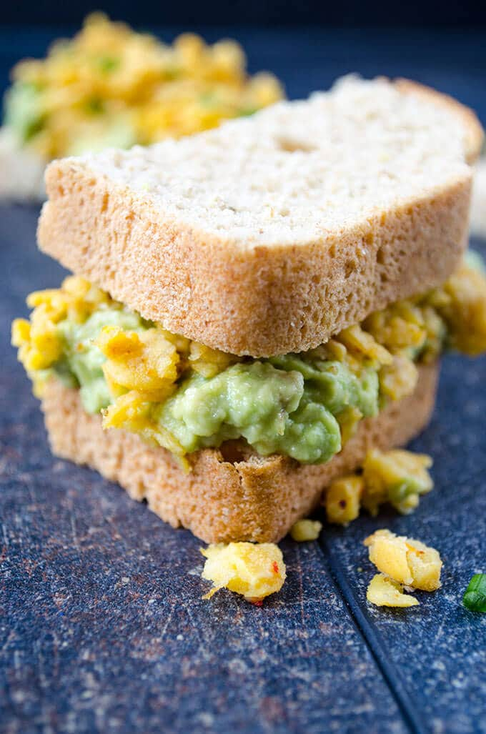 Avocado and Chickpea Sandwich | giverecipe.com | #avocado #chickpea