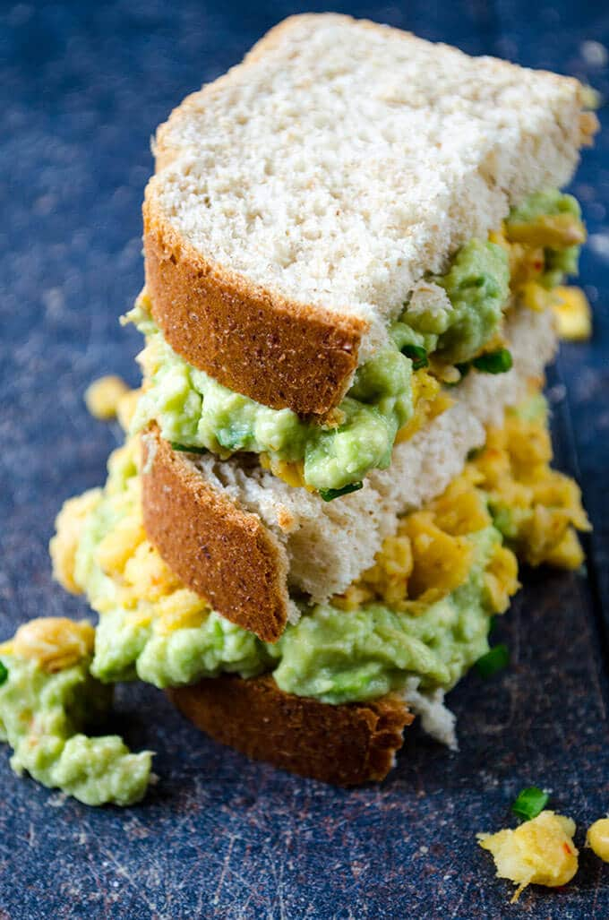 Avocado and Chickpea Sandwich | giverecipe.com | #avocado #chickpea