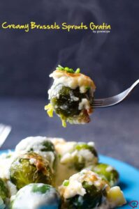 Creamy Brussels Sprouts Gratin