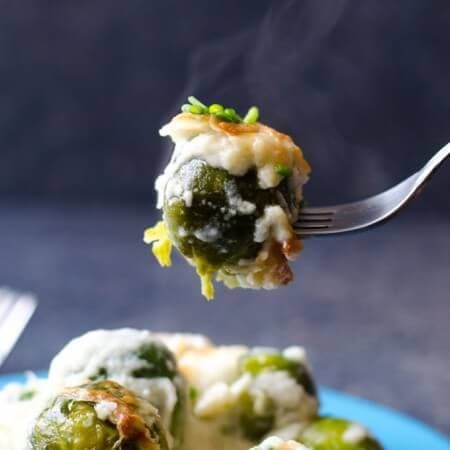 Creamy Brussels Sprouts Gratin |giverecipe.com | #brusselsprouts #gratin