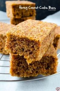 Honey Carrot Cake Bars | giverecipe.com | #carrot #bars