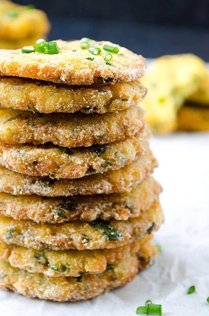 Mashed Potato Pancakes | giverecipe.com | #potatoes #pancakes