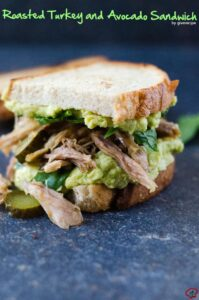 Roasted Turkey and Avocado Sandwich | giverecipe.com | #leftoverturkey #avocado