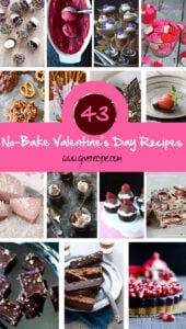 43 No Bake Valentines Day Recipes |giverecipe.com | #valentines #nobake