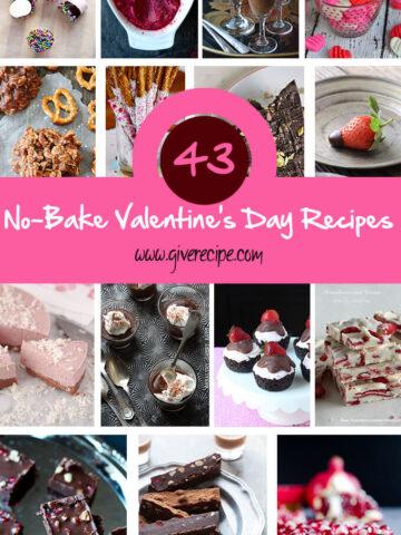 43 No Bake Valentines Day Recipes |giverecipe.com | #valentines #nobake