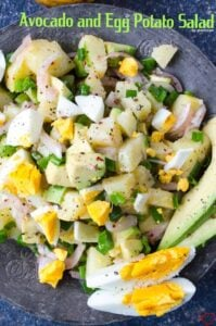 Avocado and Egg Potato Salad | giverecipe.com | #potato #avocado