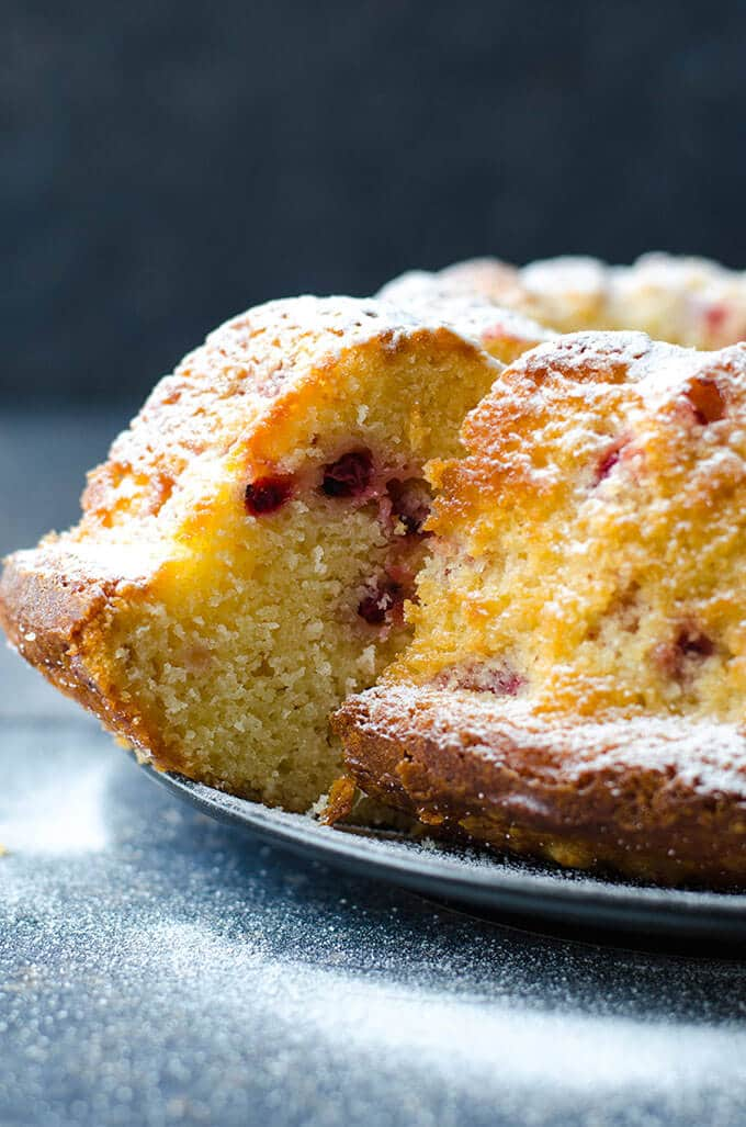 Cranberry Bundt Cake | giverecipe.com | #cake #cranberry