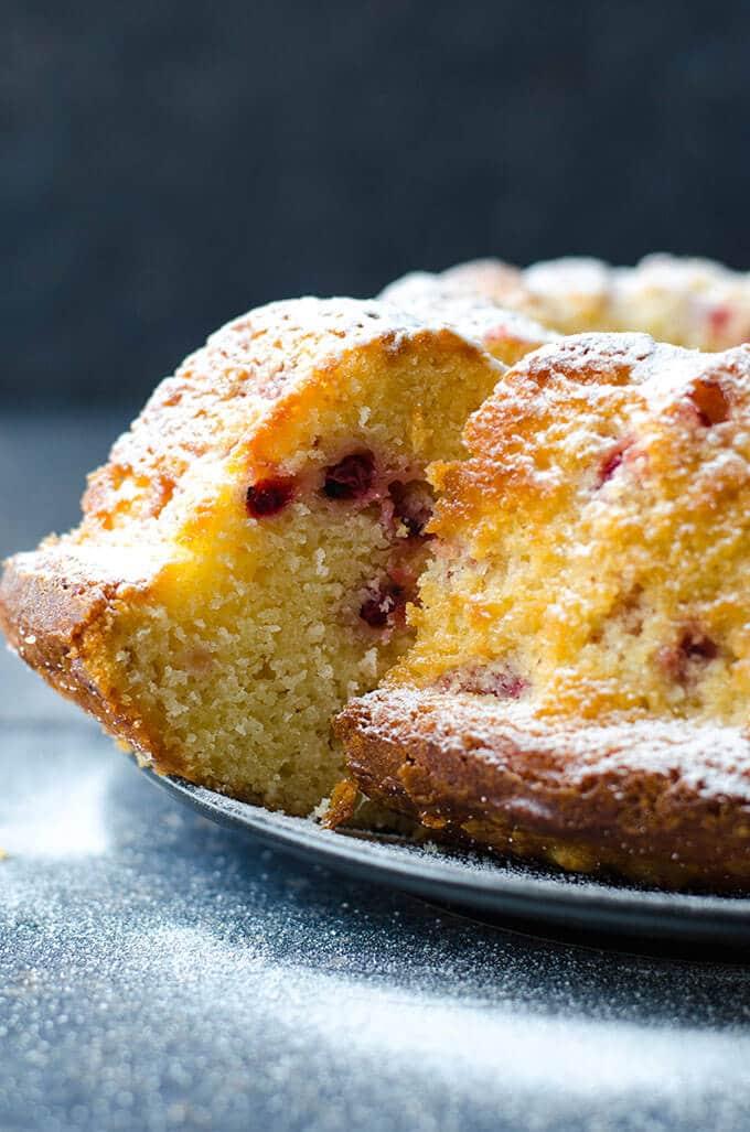 Cranberry Bundt Cake | giverecipe.com | #cake #cranberry