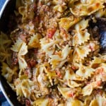 Pasta with Cheese and Meat Sauce