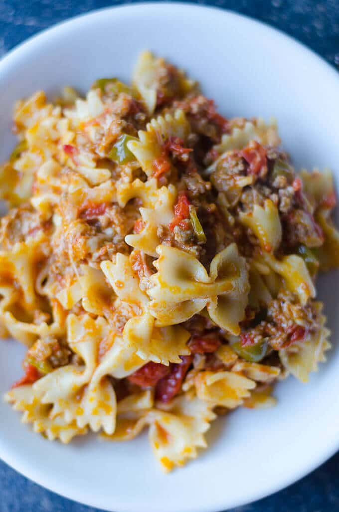 Pasta with Cheese and Meat Sauce | giverecipe.com | #pasta #comforting