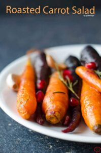 Roasted Carrot Salad | giverecipe.com | #carrot #salad