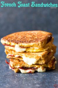 French Toast Sandwiches | giverecipe.com | #breakfast #frenchtoast