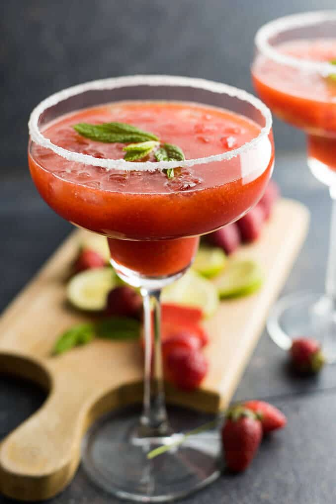 Fresh Strawberry Margarita | giverecipe.com | #margarita #strawberry