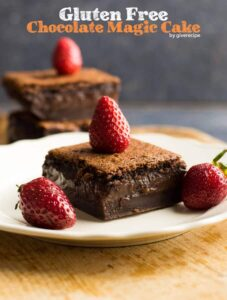Gluten-Free Chocolate Magic Custard Cake | giverecipe.com | #chocolate #glutenfree