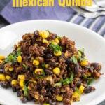 One Pan Mexican Quinoa | giverecipe.com | #mexican #quinoa