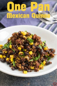 One Pan Mexican Quinoa | giverecipe.com | #mexican #quinoa