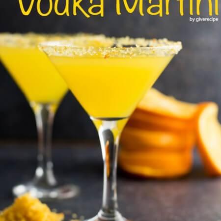 Orange Vodka Martini | giverecipe.com |#martini #cocktail