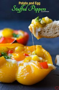 Potato and Egg Stuffed Peppers