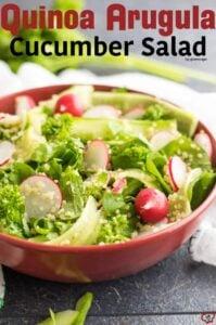 Quinoa Arugula Cucumber Salad