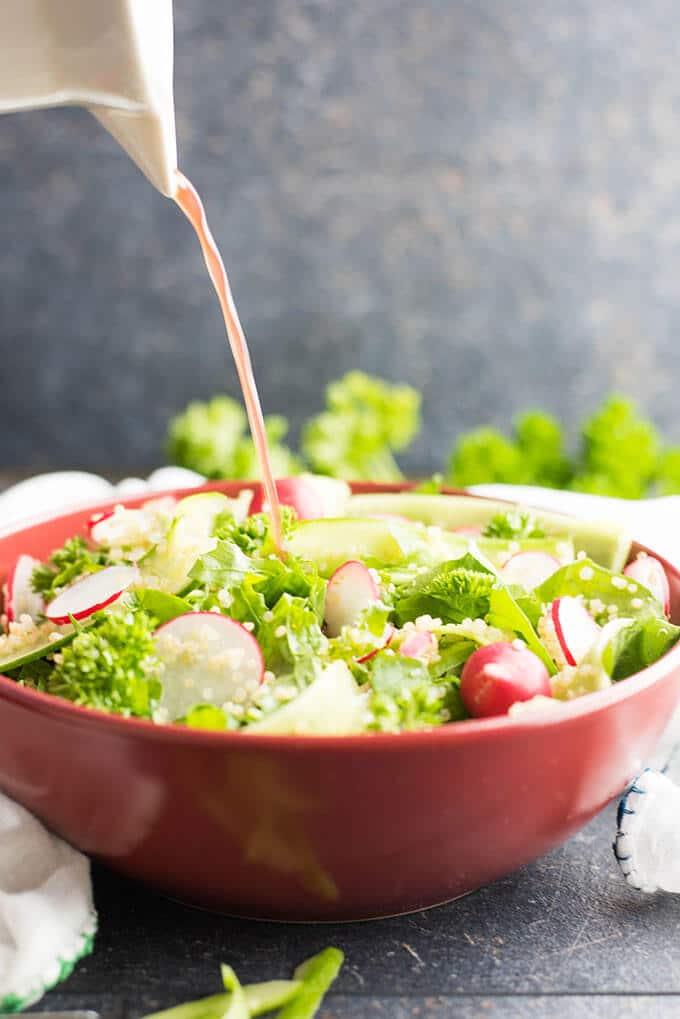 Quinoa Arugula Cucumber Salad   giverecipe.com   #quinoa #arugula