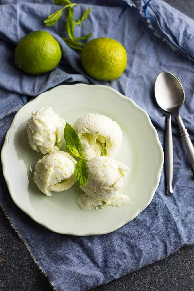 Tangy Lime Ice Cream | giverecipe.com | #lime #icecream