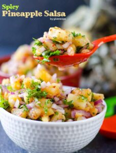 Spicy Pineapple Salsa | giverecipe.com | #pineapple #salsa