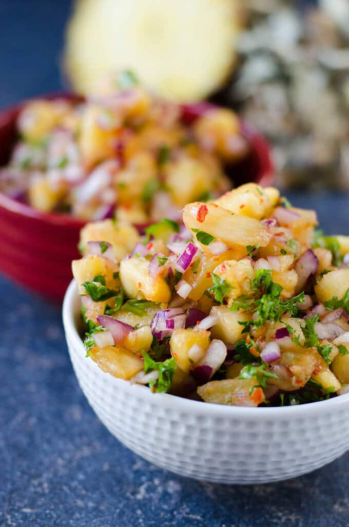 Spicy Pineapple Salsa | giverecipe.com | #pineapple #salsa