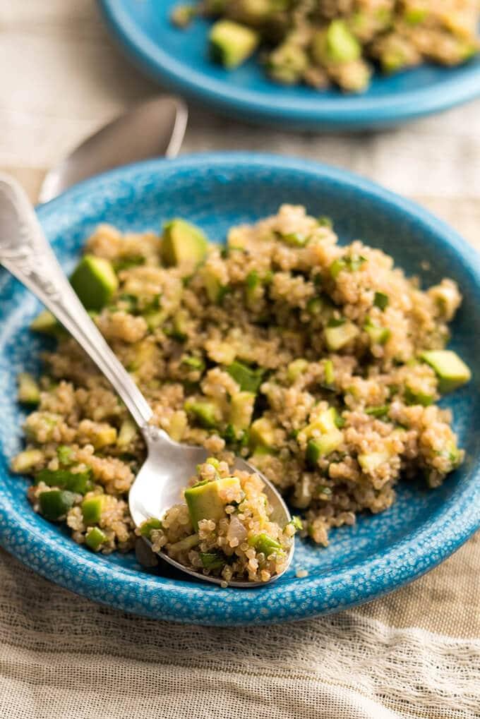 Tangy Avocado Quinoa Salad | giverecipe.com | #quinoa #avocado