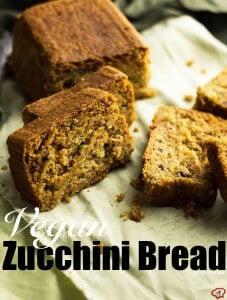 Vegan Zucchini Bread| giverecipe.com | #vegan #zucchinibread