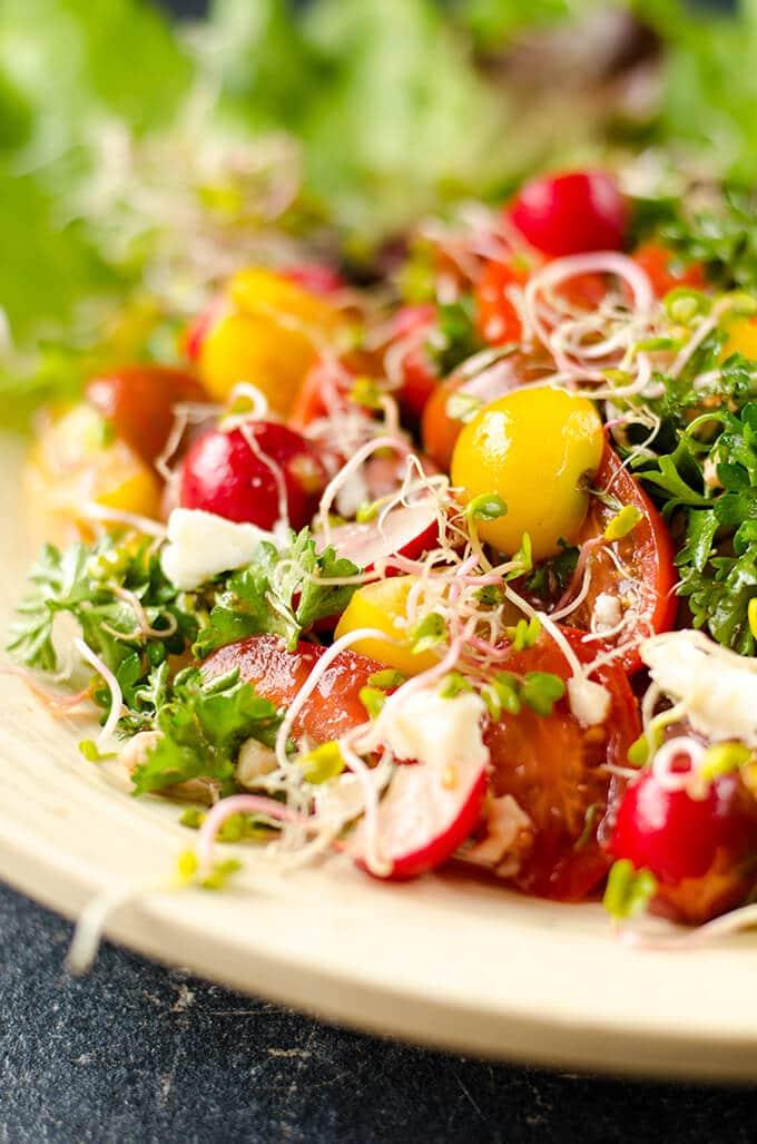 spring salad | giverecipe.com | #salad #spring