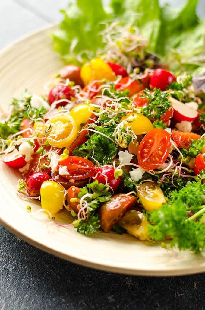 spring salad   giverecipe.com   #salad #spring
