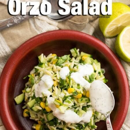 Cucumber Lemon Orzo Salad makes a wonderful light lunch or side dish for barbecue parties. - giverecipe.com