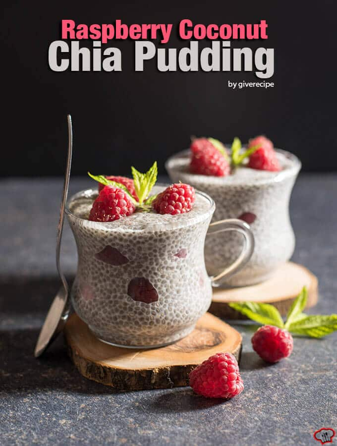 Raspberry Coconut Chia Pudding is packed with nutritions. This is an amazing recipe for health watchers. Dairy-free, egg-free, gluten-free, completely guilt-free! - giverecipe.com