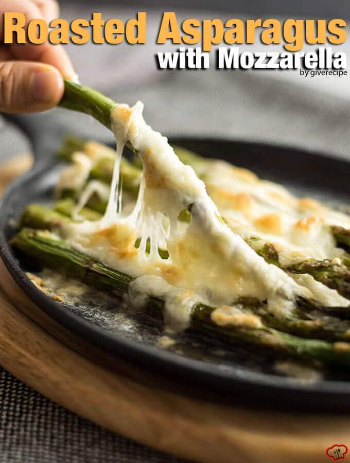 Roasted Asparagus with Mozzarella
