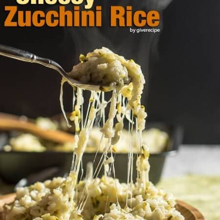 Cheesy Zucchini Rice will become the favorite side of the whole family despite the zucchini. 100% guaranteed! - giverecipe.com